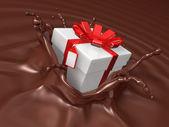Valentine chocolate 3d art — Stock Photo