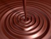 Valentinstag schokolade 3d kunst — Stockfoto