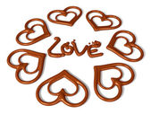 Valentijn chocolade 3d-art — Stockfoto