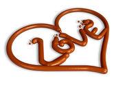 Art 3d saint valentin chocolat — Photo