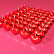 Royalty-Free Stock Photo: Event 3d red heart candle array