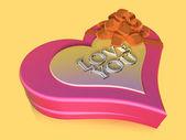 3d eingerichteten pink jewel-box — Stockfoto