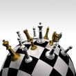 3d create chess art - Stock fotografie