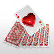 Stock Photo: 3d create playing card art