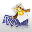 3d create playing card art — Stock Photo