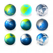 3d world globe art — Stock Photo