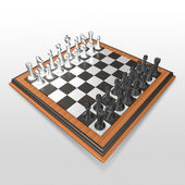 3d create chess art — Stock Photo