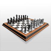 3d crear arte del ajedrez — Foto de Stock