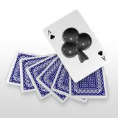 3d hrací karta umělecké — Stock fotografie