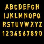 3d alphabet spelling art — Stock Photo