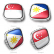 3d malaysia and brunelflag button - ストック写真