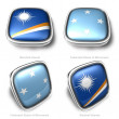 Stock Photo: 3d Marshall Islands and Federated States of micronesiflag button