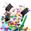 Confetti and office paper — Stock Photo