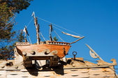 Wooden boat — Stock Photo