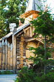 Wooden chapel in the wood — Stock Photo