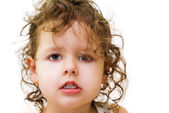 Little curly-haired girl — Stock Photo