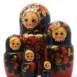 Family of wooden toys — 图库照片