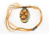 Orange jewelry — Stock Photo