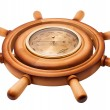 Stock Photo: Barometer of handwheel