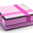 Gift wrap with ribbon — Stock Photo