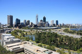 Perth skyline from Kings Park. Australian city view. — Stock Photo