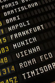 Airport timetable — Stock Photo