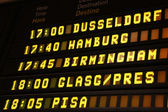 Departure board — Stock Photo