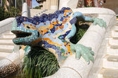 Barcelona lizard — Stock Photo