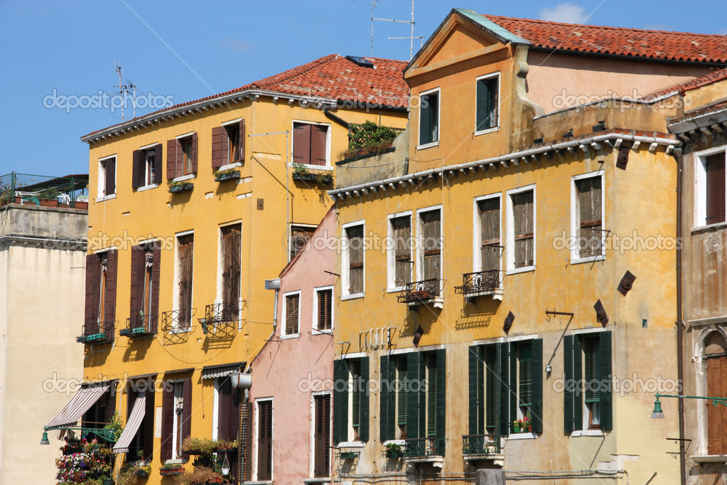 Old buildings in Venice, Italy. Beautiful travel destination.  Stock Photo #4450754