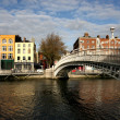 Ha&#039;penny bridge in Dublin - Stock Photo