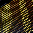 Stock fotografie: Departure board