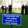 Stock Photo: Keep off the lawn