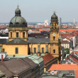Munich cityscape - Stock Photo