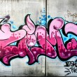Pink graffiti — Stock Photo