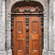 Ornate wooden door — Stock Photo
