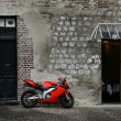 Red motorcycle — Stock Photo #4469231
