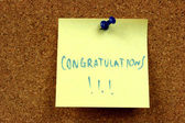 Congratulations — Stock Photo