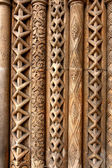 Budapest column patterns — Stock Photo
