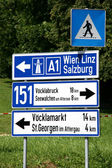 Road sign in Austria — Stock Photo