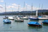 Zurich Lake marina — Stock Photo