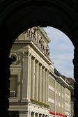 Arched passage in Berne, Switzerland. Architecture detail. — Stock Photo