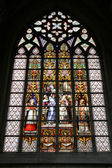 Religious stained glass — Stock Photo