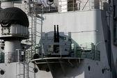 Battleship cannon — Stock Photo