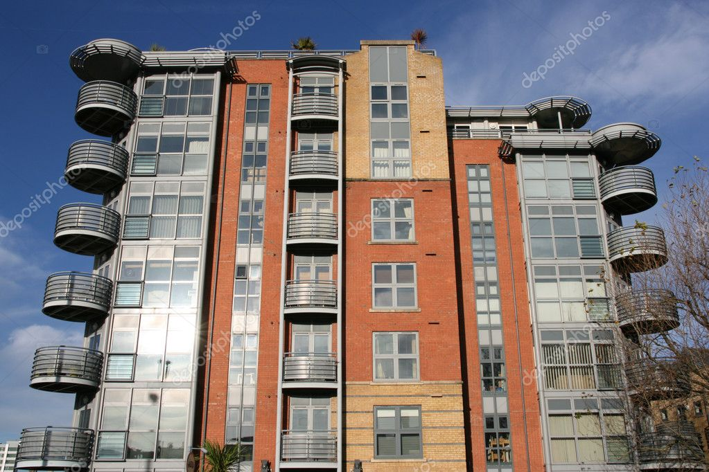 Modern architecture in Bristol, South West England. Apartment building.  Foto de Stock   #4464851