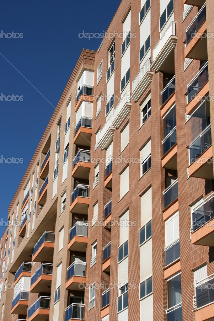 Modern architecture in Cartagena, Spain. Apartment building. — Stock Photo #4465454
