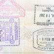 Stock Photo: Passport stamps