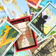 Postage stamps - Stok fotoraf