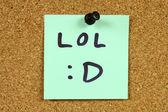 Mensaje de lol — Foto de Stock