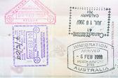 Passport stamps — Stock Photo