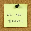 Financial problems — Stock Photo